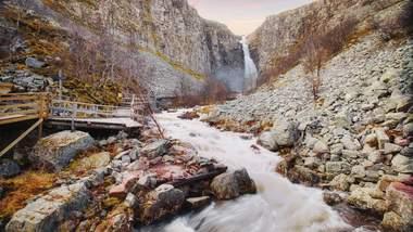 Wanderweg zum Njupeskär-Wasserfall
