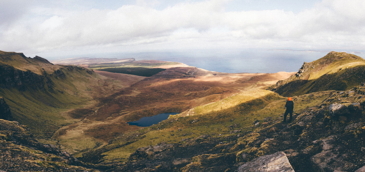 Wanderung mit imprägnierter Jacke auf der Isle of Skye
